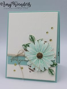 handmade cards, daisy delight paper, stampin up Stampin Up Karten, Karten Diy, Daisy Delight Stampin' Up, Happy Wishes, Stamping Up Cards, Mothers Day Cards, Sympathy Cards, Flower Cards, Creative Cards
