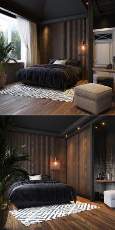 The most beautiful living room decoration ideas – Fashion, Home decorating Simple Bedroom Design, Small Space Interior Design, Black Bedroom Design, Home Room Design, Master Bedroom Design, Luxury Bedroom Design, House Design, Bedroom Designs, Kitchen Design
