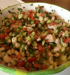 ceviche-maybe add some edamame or white/garbanzo beans for a change up and extra protein Shrimp Recipes, Fish Recipes, Mexican Food Recipes, Great Recipes, Salad Recipes, Favorite Recipes, Recipies, Shrimp Ceviche, Ceviche Recipe