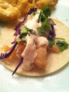 Fish Tacos with White Sauce @Shut Up & Cook .