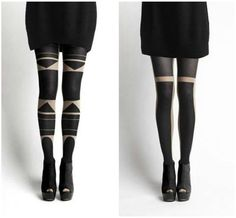 Kinda obsessed with these black out tights by Patternity