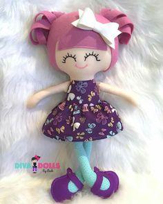 Diy Rag Dolls, Sewing Dolls, Felt Doll Patterns, Stuffed Toys Patterns, Fabric Dolls, Paper Dolls, Dolls And Daydreams, Mermaid Dolls, Doll Maker