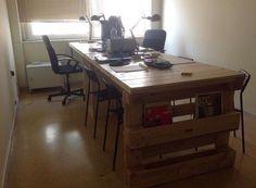 office desk europalets endsdiy. Wood Pallet Office Computer Desk Europalets Endsdiy
