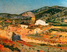 Olesa de Bonesvalls. Barri de l Hôpital de Joaquin Mir Trinxet (1873-1940, Spain)