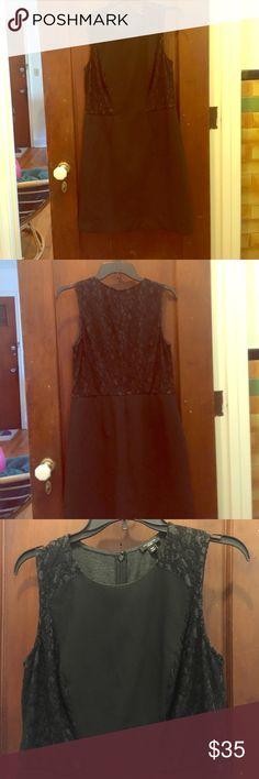 "Ann Taylor Black Lace Sheath Dress Sexy LBD! Black sleeveless lace dress. Ann Taylor Size 10 Petite. Zipper back closure. 36"" bust, 32"" waist, 35"" long. Polyester/rayon/spandex blend. Dry clean only. Ann Taylor Dresses Midi"