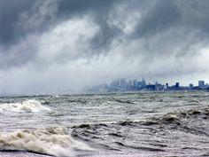 Buffalo NY Snow | Lake Effect storm approaching Buffalo, New York (clouds fog rain snow ...