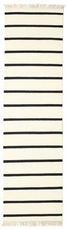 Dhurrie Stripe - White / Black rug 80x300