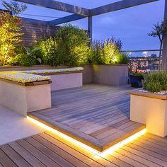 Terrace Garden Design, Rooftop Design, Rooftop Terrace, Patio Design, Terrace Ideas, Balcony Garden, Garden Ideas, Patio Roof, Backyard Patio