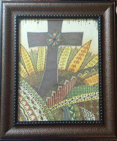 Tangled, Zentangle, Frame, Inspiration, Home Decor, Art, Picture Frame, Biblical Inspiration, Art Background