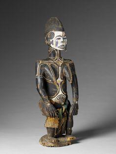 Africa | Statuette féminine Idoma, Bénoué, Nigeria © musée du quai Branly, photo Patrick Gries