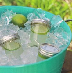 For backyard bbq - serve drinks in Ball jars.