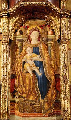 Vittore Crivelli (Venice, ca.1440-1502) ~ Chiesa di Sant'Agostino ~ Torre di Palme ~  Fermo ~ Italy  AT
