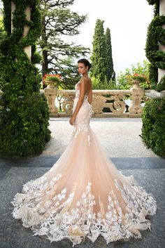"""Dramatic elegance is oozing out of every single wedding dress in Milla Nova """"White Desire"""" 2017 Bridal Collection. Every bridal gown brings gorgeous style. Country Wedding Dresses, Best Wedding Dresses, Bridal Dresses, Wedding Gowns, Bridesmaid Dresses, Modest Wedding, Casual Wedding, Elegant Wedding, Ball Dresses"""