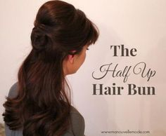 Easy Half Up Hair Bun