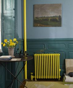 Painted radiator - Stylish Radiator Cover Ideas For Summer – Painted radiator Decor, Painted Radiator, Colorful Interiors, Interior, Interior Inspiration, Industrial Interior Design, Industrial Interiors, Home Deco, Interior Design