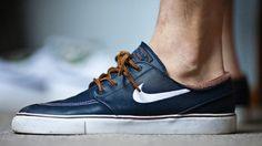 802aef3e04350 Nike SB Zoom Stefan Janoski - obsidian leather Basket Sneakers