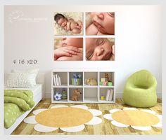 professional newborn photographer canvas wall art, example of an arrangement