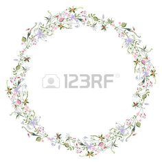 Wreath with stylized summer flowers and herbs Stock Vector Summer Flowers, Vector Art, Clip Art, Herbs, Wreaths, Stock Photos, Creative, Illustration, Projects