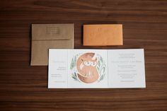 Fox Wedding Invite...I love the illustration and Idea!