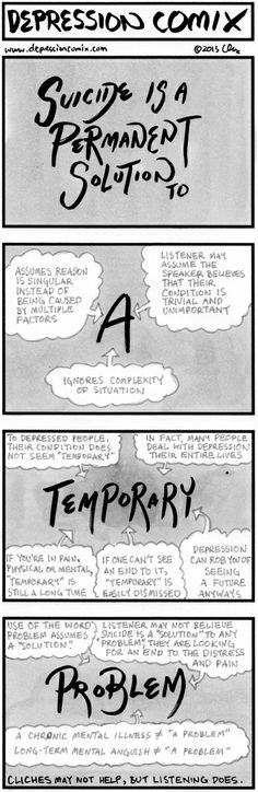 Comic explains it so well. Why cliches don't help but listening does.