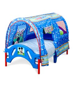 Love this Mickey Mouse Tent Toddler Bed by Mickey Mouse & Minnie Mouse on #zulily! #zulilyfinds