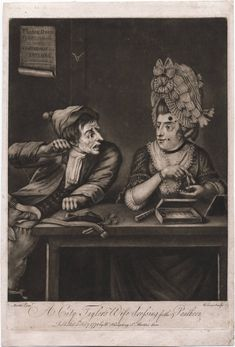 A City Taylor's Wife Dressing for the Pantheon, Lewis Walpole Library Digital Collection