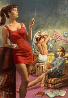 Paul Rader Vintage Pulp Art Illustration | Female-Centric Pulp Art | Sugary.Sweet | #Pulp #Art #Illustration
