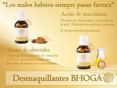 #AceitesDesmaquillantesBhoga Elimina completamente el maquilla de tu piel con BHOGA