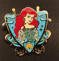 Disney License Trading Pin movie The Little Mermaid Princess Ariel jeweled color Jewel Colors, Mermaid Princess, The Little Mermaid, Ariel, Jewels, Disney, Movies, Bijoux, Films