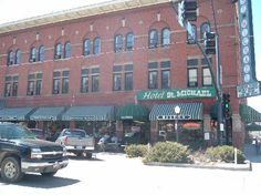 The historic Hotel St. Michael on Whiskey Row in Prescott, Arizona...where the cowboys used to drink and fight.