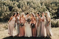 Michaela Klouda Photography – Bryllupsfotograf i Oslo, Norge og hele verden Brides And Bridesmaids, Bridesmaid Dresses, Wedding Dresses, Pink Dresses, Photography Portfolio, Pastel, Engagement, Fashion, Moda