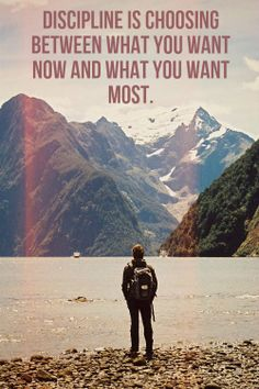 Discipline is choosing between what you want now and what you want the most. Click on this image to see the biggest selection of life tips and positive quotes!