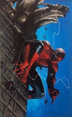 Marvel Comics. Comic Book Artwork • Spider-Man by Gabriele Dell'Otto. Follow us for more awesome comic art, or check out our online store www.7ate9comics.com Online Comic Books, Comics Online, Comic Books Art, Book Art, Buy Comics, Dc Comics Art, Marvel Comics, Tradd Moore, Dragons