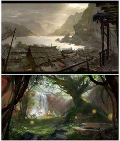http://theconceptartblog.com/2014/05/26/pinturas-do-artista-chines-dawnpu/