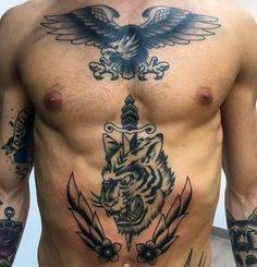 75 Traditional Tiger Tattoo Designs For Men - Striped Ink Ideas