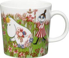Moomin Summer Mug 2016 - Midsummer from Arabia by Tove Jansson, Tove Slotte Moomin Shop, Moomin Mugs, Moomin Valley, Tove Jansson, Different Flowers, Marimekko, Scandinavian Design, Finland, Coffee Cups