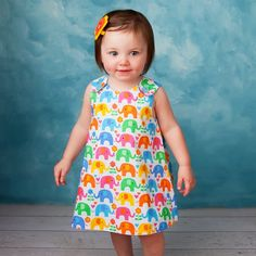 "This fully reversible baby dress gets a perfect ""A"" for style and fit! Easy and quick to sew with plenty of room for appliques and embroi..."