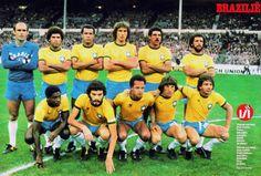 1981 Brazil, Top, left to right: Valdir de Arruda Peres, 'Edevaldo' de Freitas, Luiz Carlos Ferreira 'Luizinho', José 'Oscar' Bernardi,  Antonio Carlos 'Toninho Cerezo', Leovegildo Lins Gama 'Júnior',  Bottom, left to right: 'Paulo Isidoro' de Jesus,  'Sócrates' Brasileiro Sampaio de Souza Vieira de Oliveira, José 'Reinaldo' de Lima, Artur Antunes Coimbra 'Zico', 'Éder' Aleixo de Assis  , May 12, 1981, England 0-Brazil 1