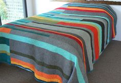 Mid-Century Modern Queen Quilt - Made to order. $600.00, via Etsy.