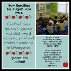 Pre-K Enrollment Opportunity