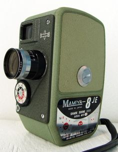 Vintage Mamiya Japanese 8mm Camera. VoltaVolta on Etsy.  Joseph would appreciate this one.