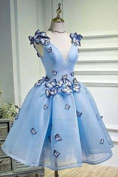 Distinct Blue Prom Dress, Short Prom Dress ,Charming light blue long Prom Dresses from HotProm - ❤❤ 2019 Beautiful dresses for homecoming dresses ❤❤ Junior Homecoming Dresses, Burgundy Homecoming Dresses, Cute Prom Dresses, Tulle Prom Dress, Pretty Dresses, Beautiful Dresses, Maxi Dresses, Party Dress, Elegant Dresses