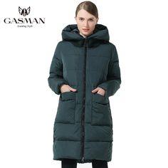 83823ef9dee GASMAN 2018 Модный пуховик женский Теплая Женская Куртка с Капюшоном зимнее  пальто для женщин Длинная Теплая