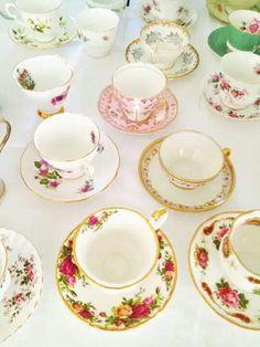 My bridal tea party / vintage collection