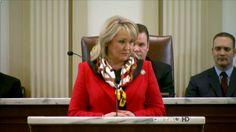 Governor Mary Fallin.   Governor of Oklahoma.  Fallin   =   Fall In   11/18/2017 @ Denver House  -BL