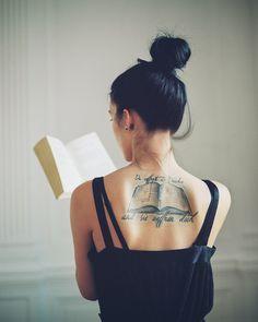 a book tattoo!