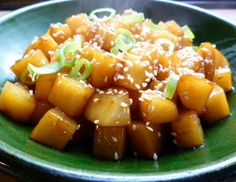 Korean glazed potatoes