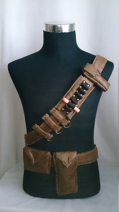 Bandolier / Utility Belt System for Steampunk Adventurers Faux Distressed Leather on Etsy, $4.36
