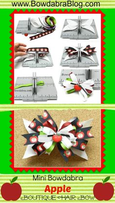 Mini Bowdabra Apple Boutique Hair Bow Bowdabra Blog