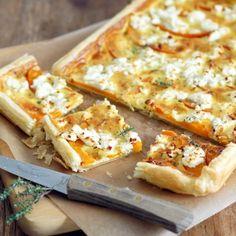 Crunchy Tart with pumpkin and feta cheese